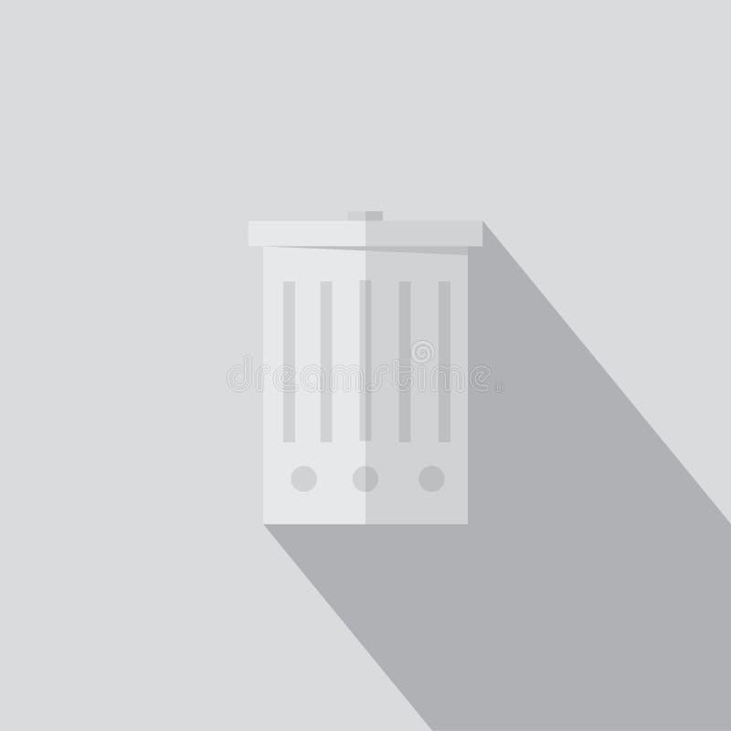 Cesta, botão suprimido do ícone ilustração royalty free