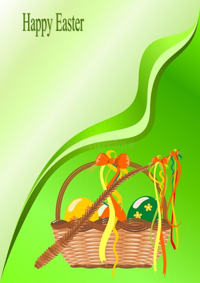 Cesta com ovos de easter ilustração stock