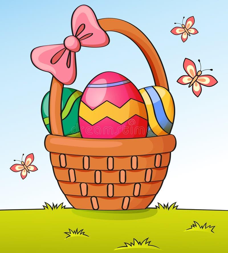 Cesta con los huevos de Pascua libre illustration