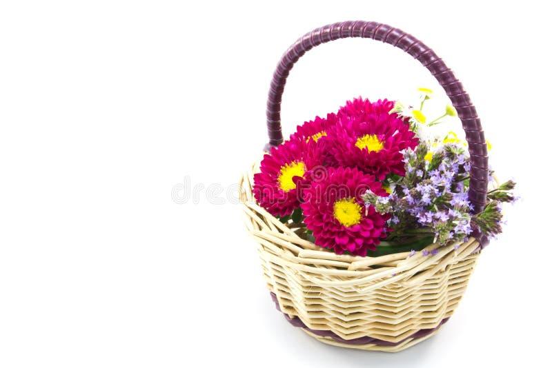 Cesta da flor imagem de stock royalty free