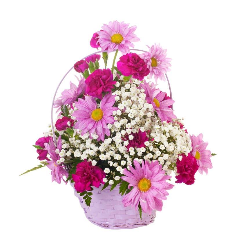 Cesta das flores fotos de stock royalty free