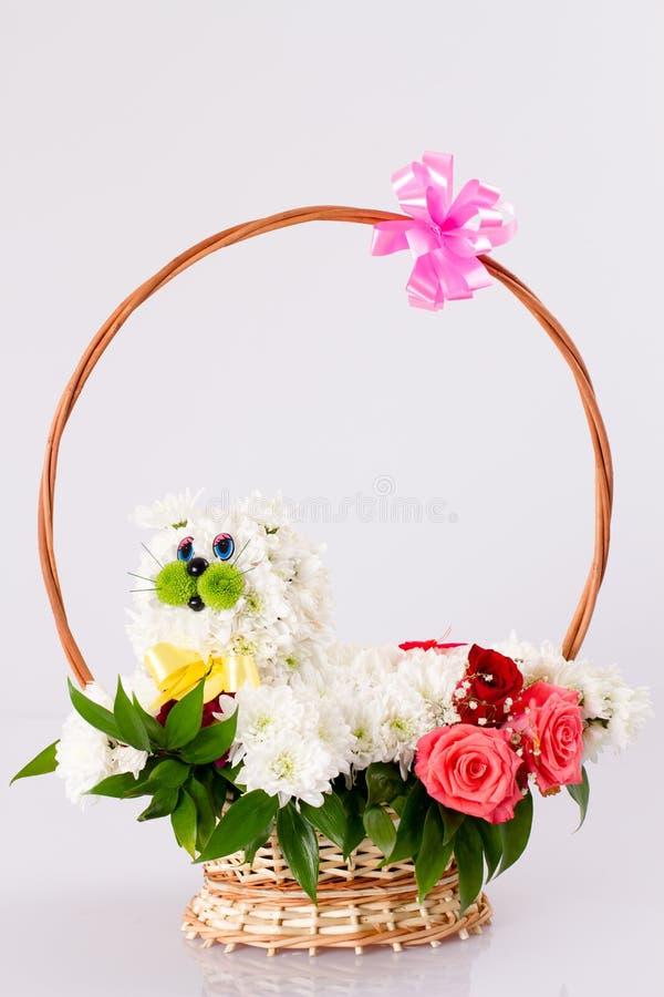 Cesta das flores fotografia de stock