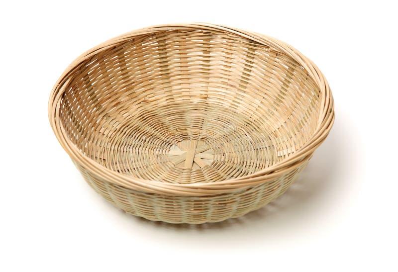 Cesta de bamb? hecha a mano fotos de archivo libres de regalías