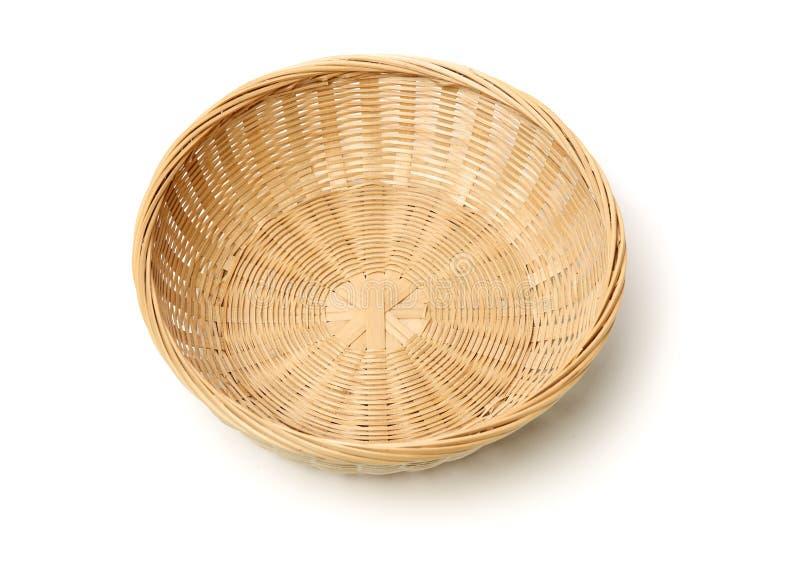 Cesta de bamb? hecha a mano fotografía de archivo