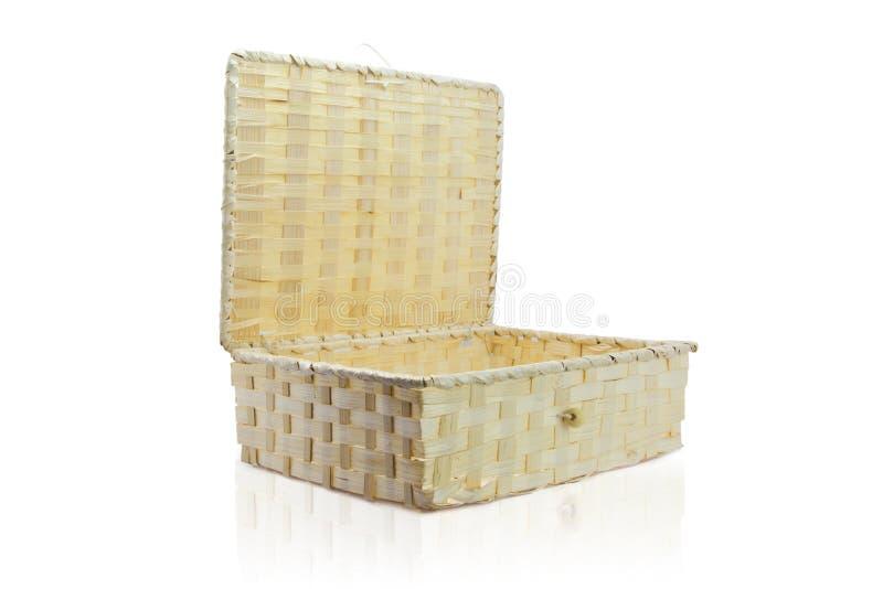 Cesta de bambu do ofício imagem de stock royalty free