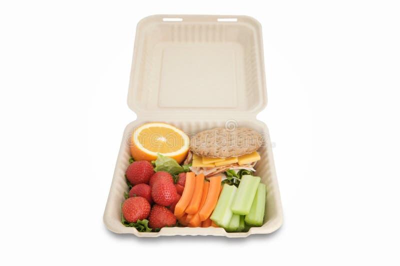 Cesta de comida com alimento saudável foto de stock royalty free