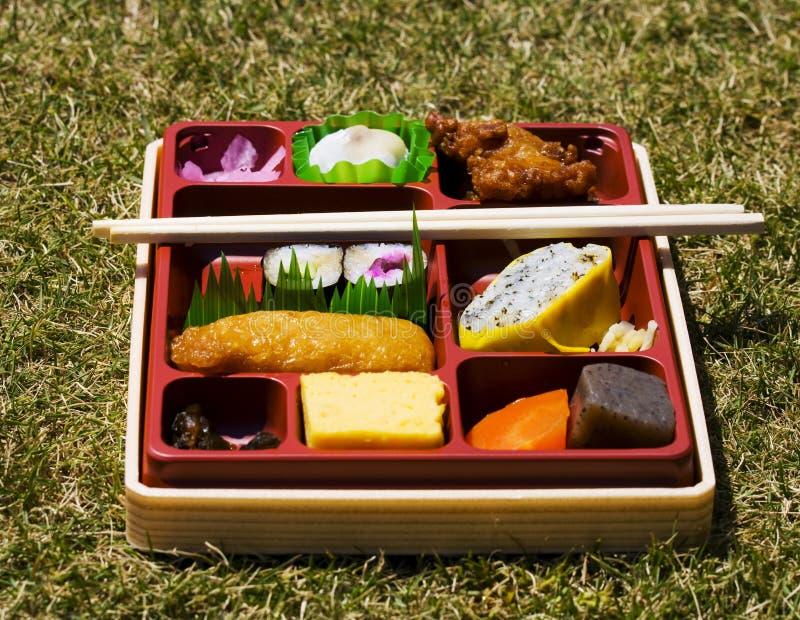 Cesta de comida japonesa fotos de stock royalty free
