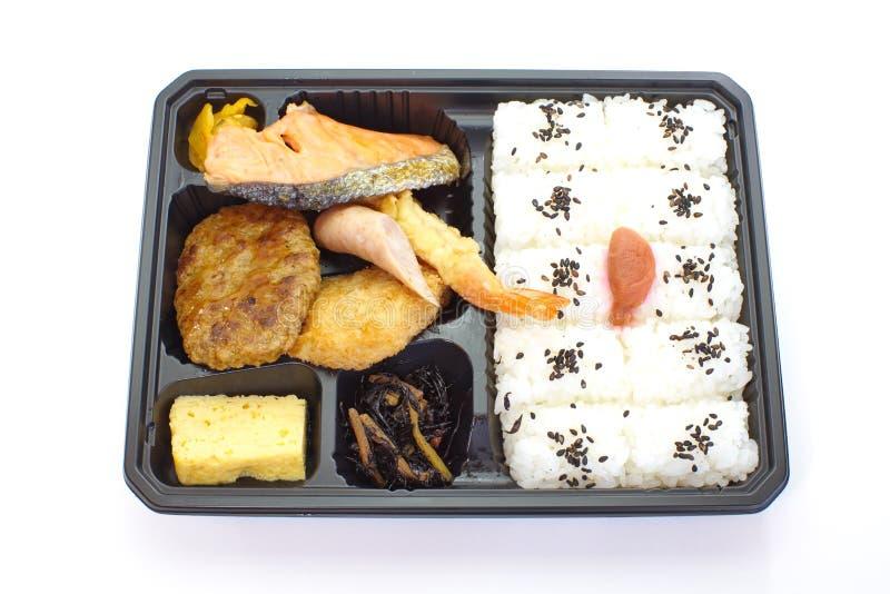 Cesta de comida pré-feito japonesa, Bento foto de stock