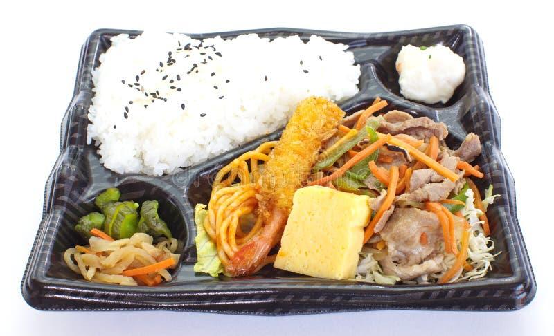 Cesta de comida pré-feito japonesa, Bento imagem de stock