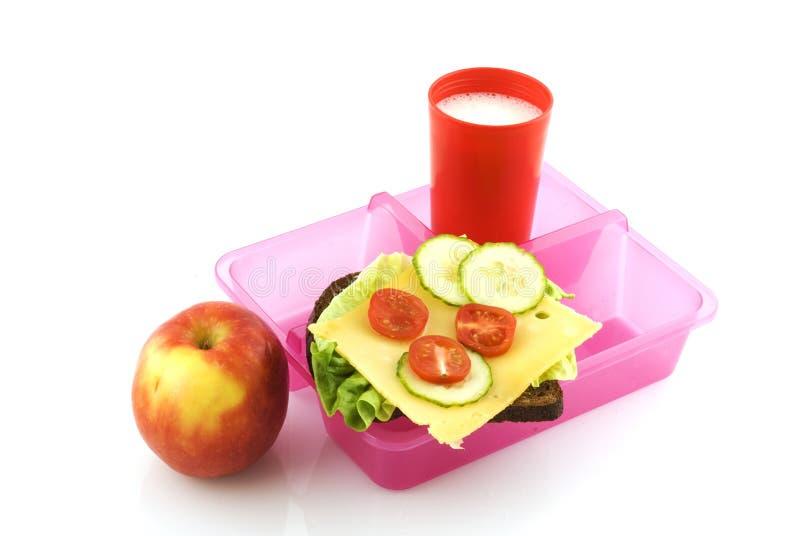 Cesta de comida saudável imagem de stock