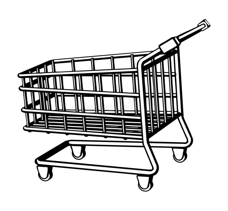 Cesta de compras ilustración del vector