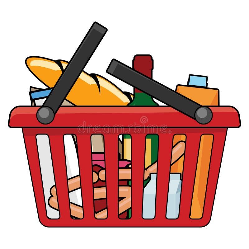 Cesta de compras libre illustration