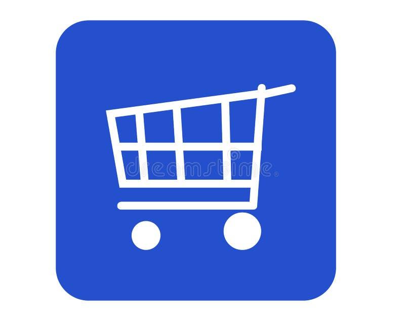 Cesta de compras stock de ilustración