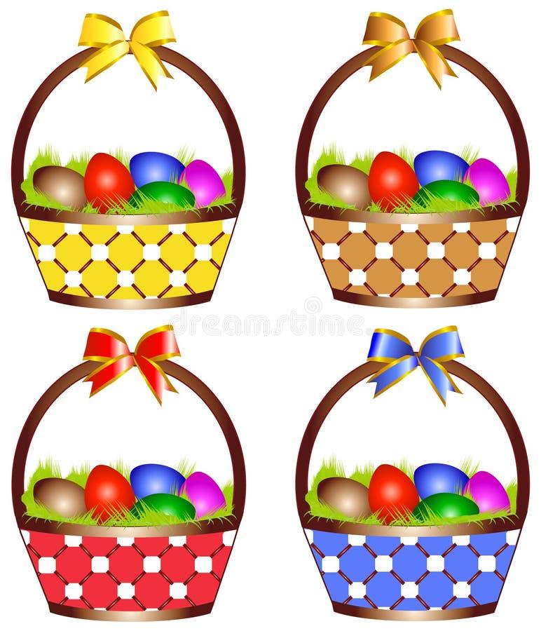 Cesta de Easter ilustração stock