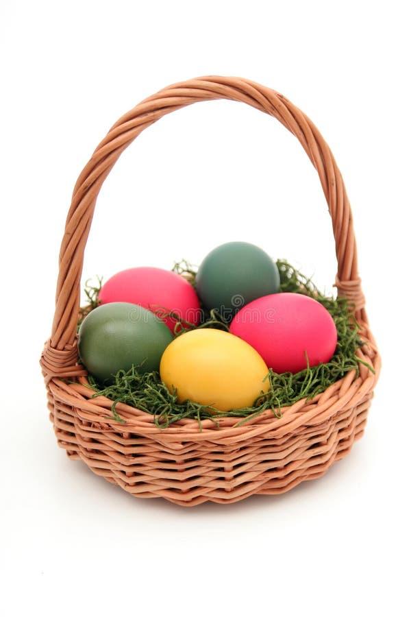 Cesta de Easter foto de stock