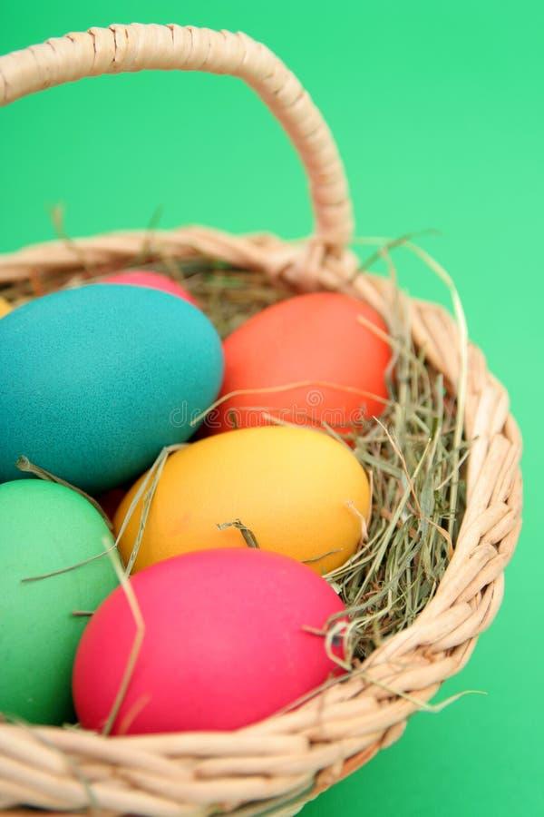 Download Cesta de Easter foto de stock. Imagem de variedade, verde - 532120