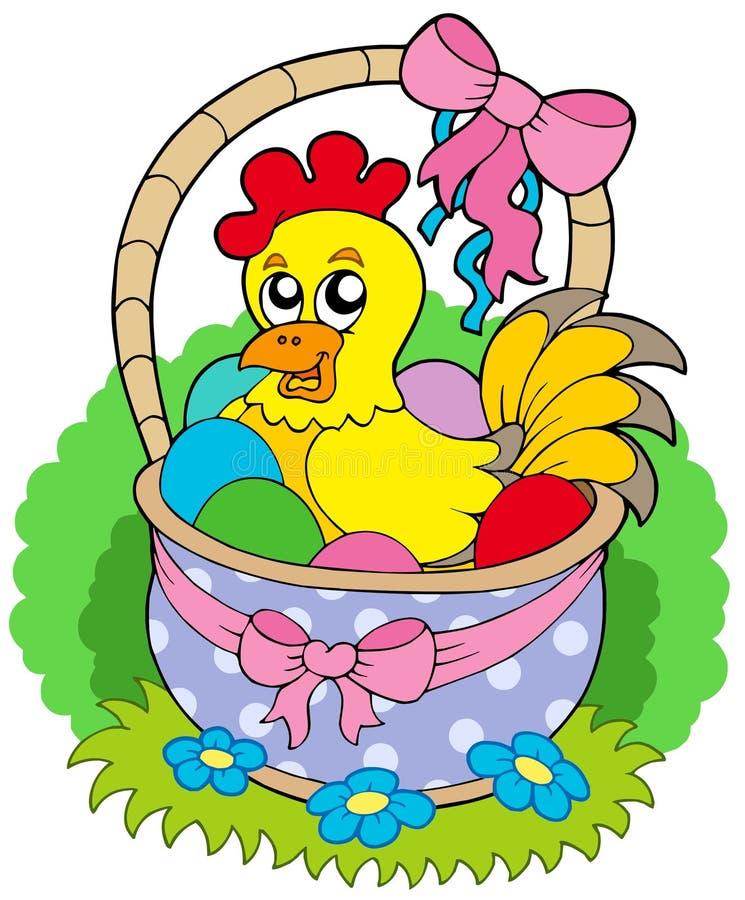 Download Cesta De Easter Com Galinha Bonito Ilustração do Vetor - Ilustração de pena, easter: 12804924