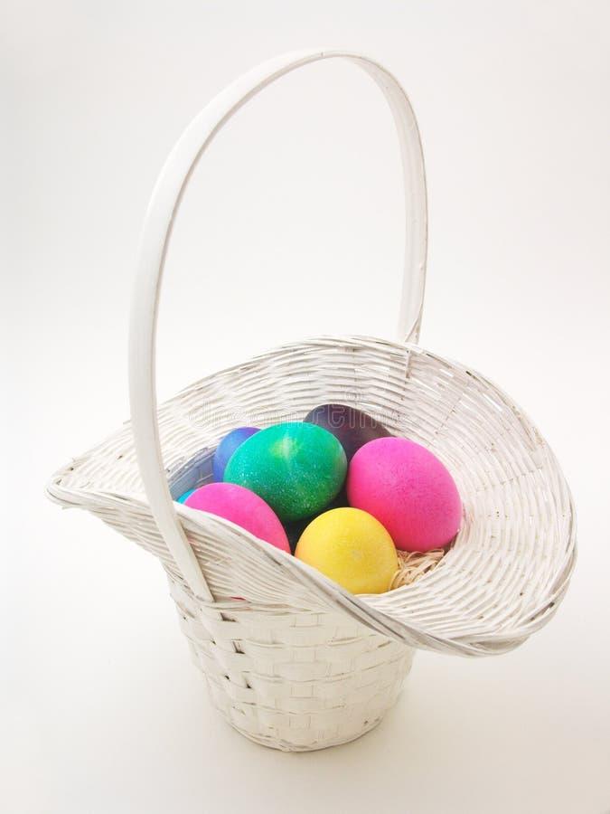Cesta de Easter (completamente - vista) imagem de stock royalty free