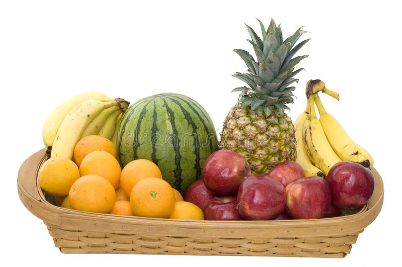 Cesta de fruta imagen de archivo