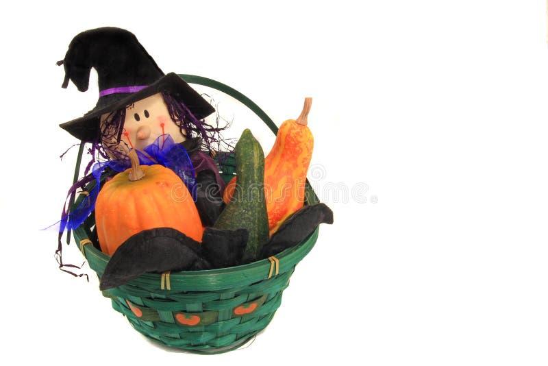 Cesta de Halloween fotografia de stock