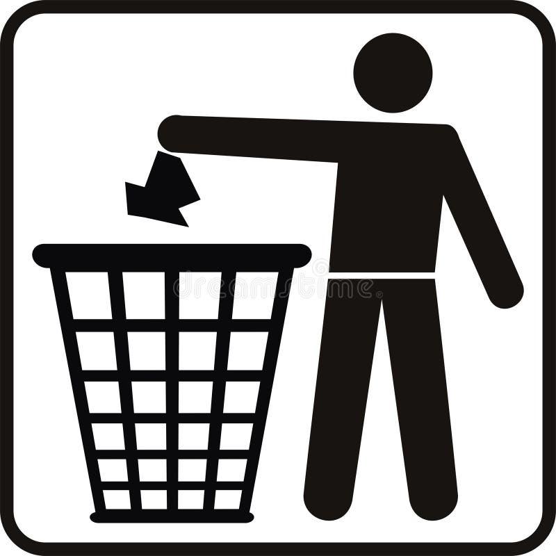 Cesta de la basura ilustración del vector