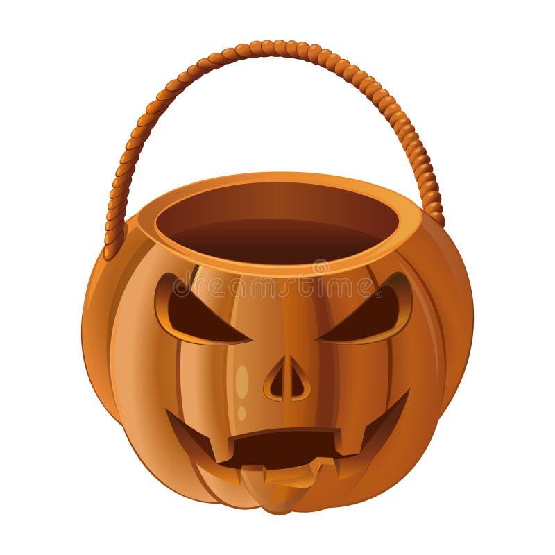 Cesta de la calabaza para recoger el caramelo en Halloween libre illustration