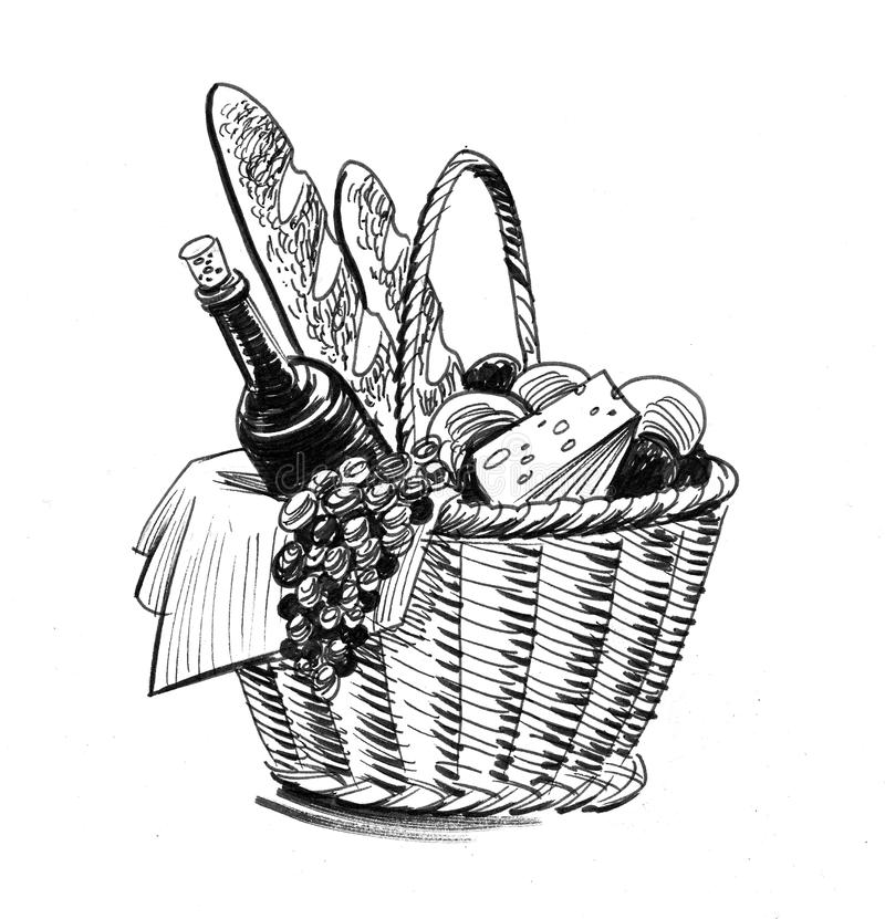 Cesta de la comida libre illustration