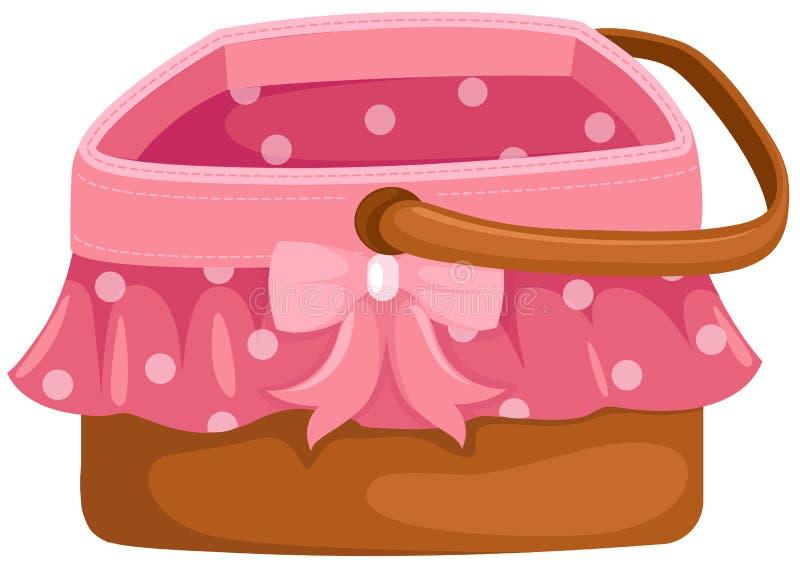 Cesta de la comida campestre stock de ilustración