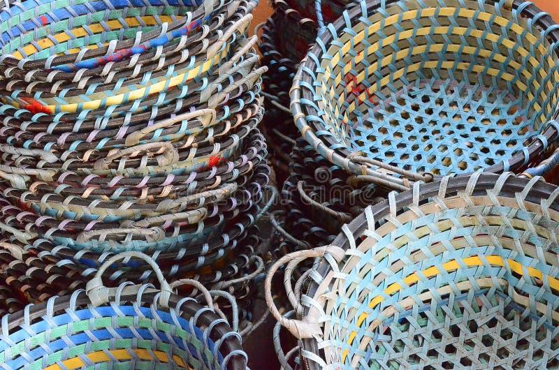 Cesta de la pesca imágenes de archivo libres de regalías