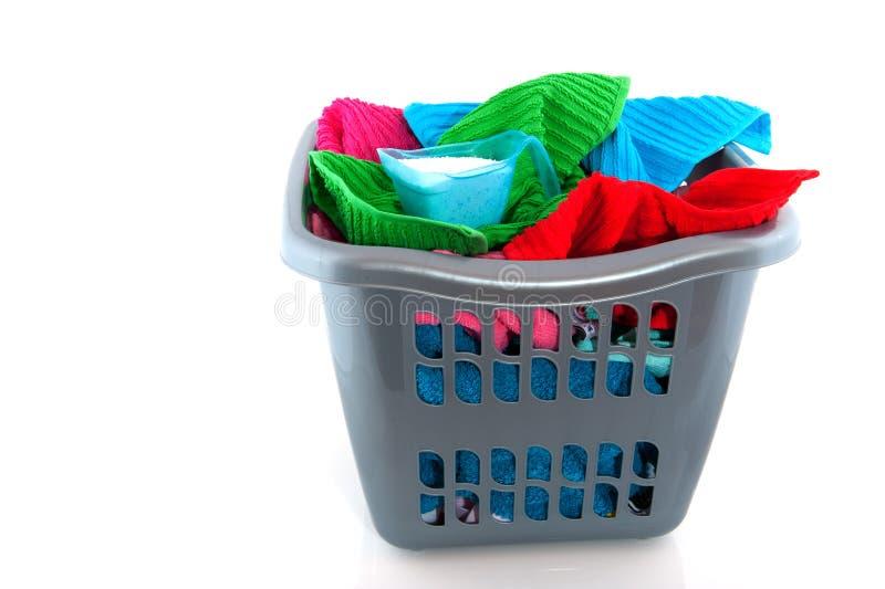 Cesta de lavadero imagen de archivo