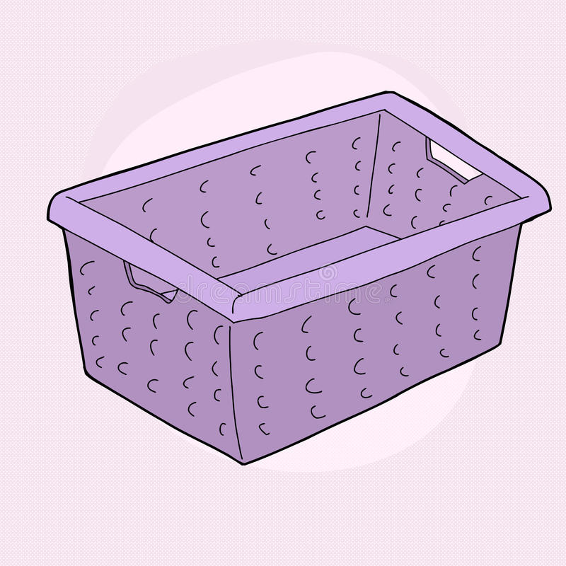 Cesta de lavadero púrpura ilustración del vector