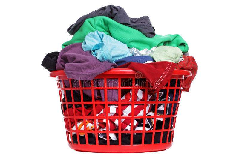 Cesta de lavanderia imagem de stock royalty free