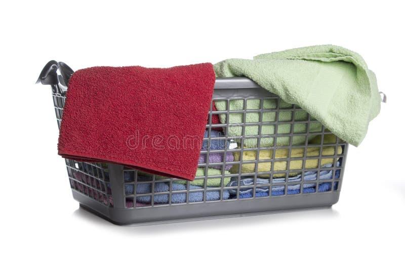 Cesta de lavanderia foto de stock