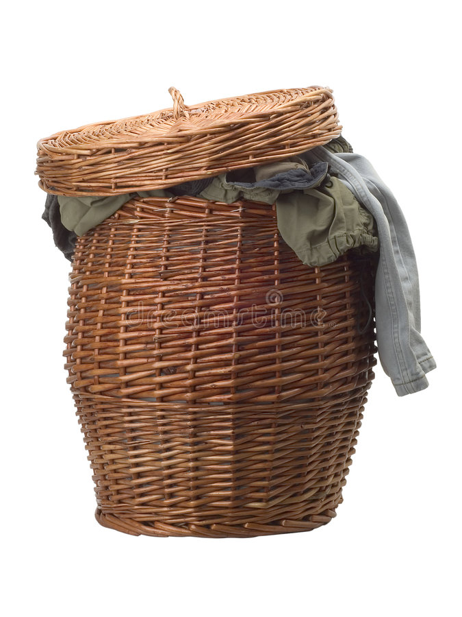 Cesta de lavanderia fotografia de stock royalty free