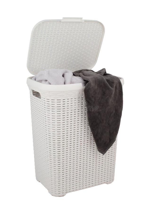 Cesta de lavanderia fotografia de stock
