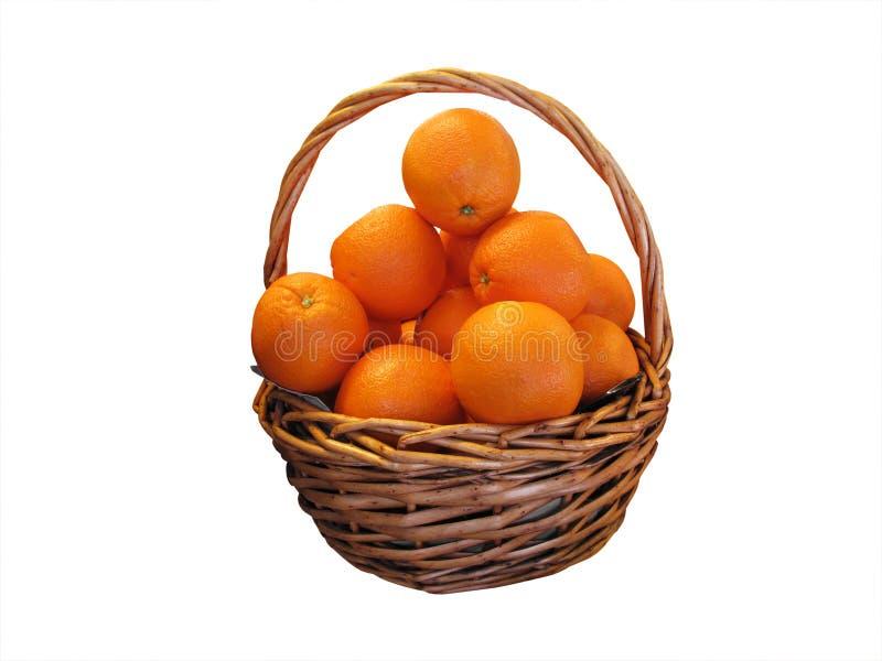 Cesta de naranjas imagen de archivo libre de regalías