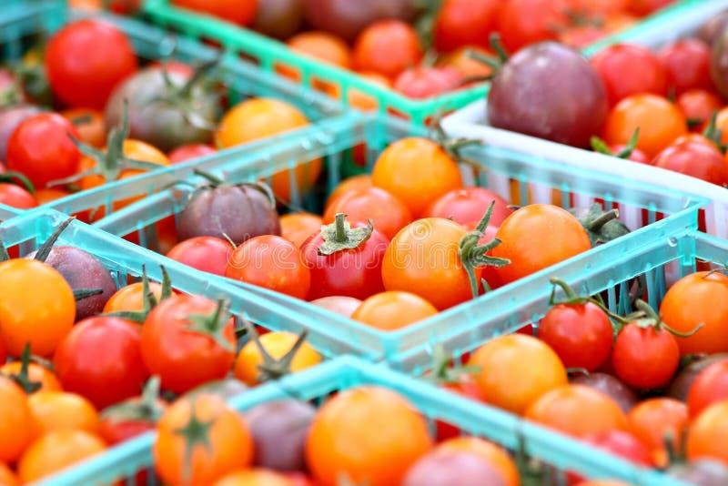 Cesta de tomates fotografía de archivo libre de regalías