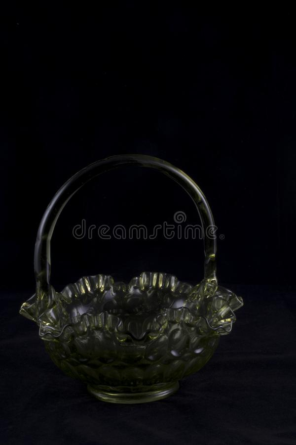 Cesta de vidro de Fenton imagem de stock royalty free