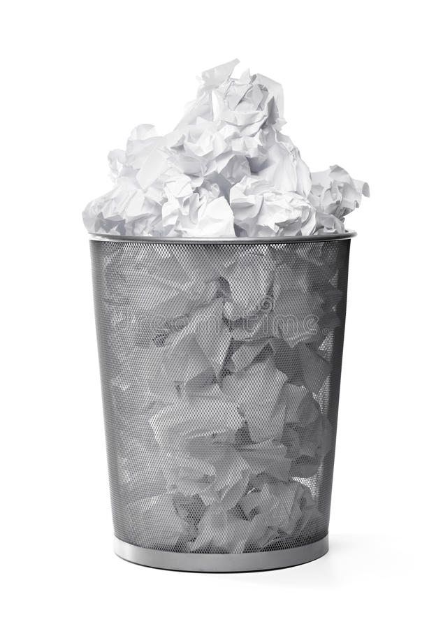 Cesta de Wastepaper imagem de stock royalty free