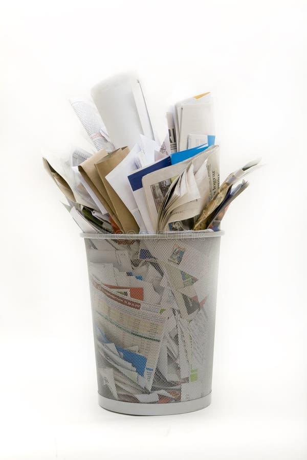 Cesta de Wastepaper foto de stock