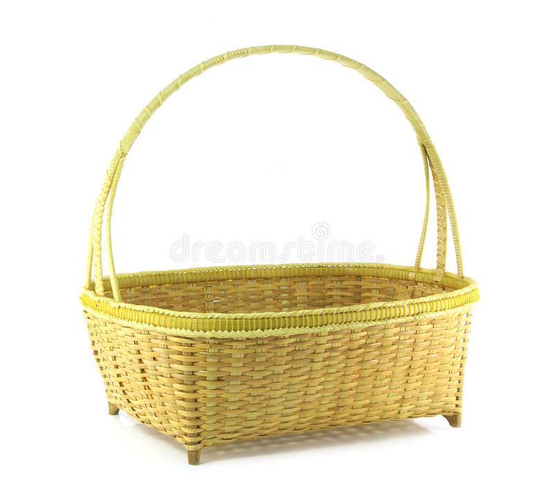 Cesta De Weave De Bambu Foto de Stock Royalty Free