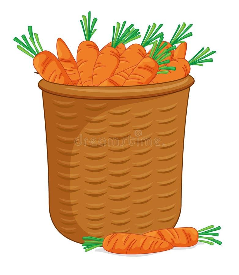 Cesta de zanahorias ilustración del vector