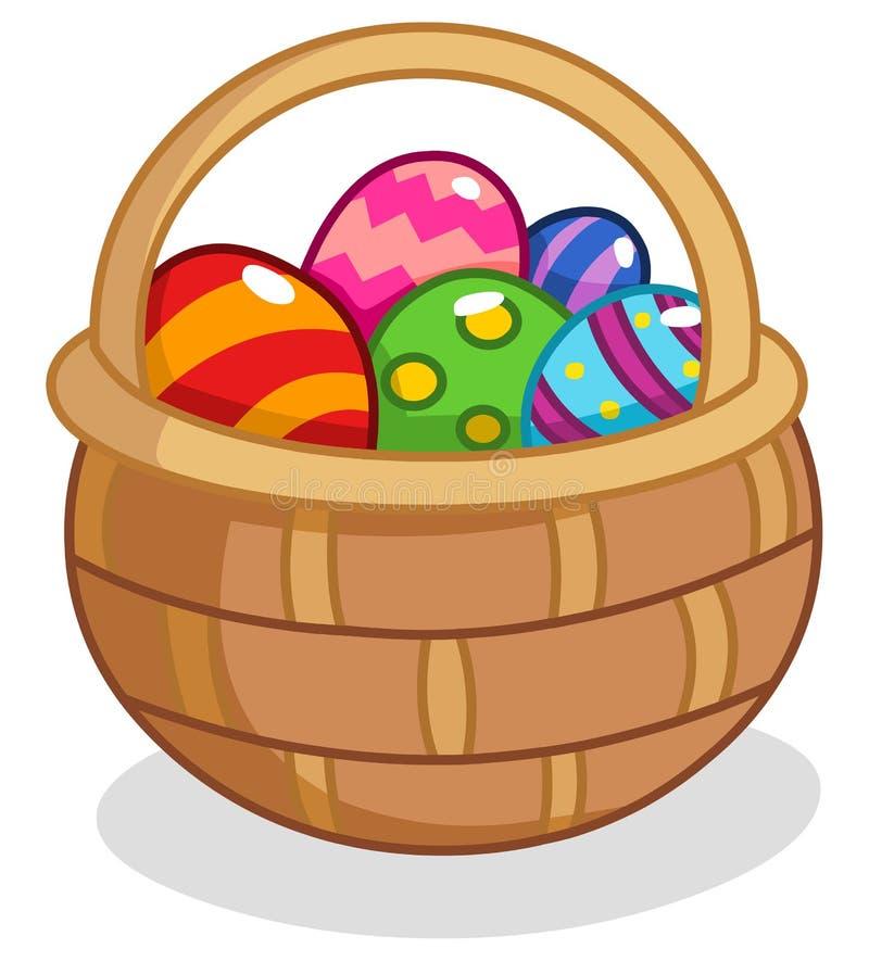 Cesta del huevo de Pascua ilustración del vector