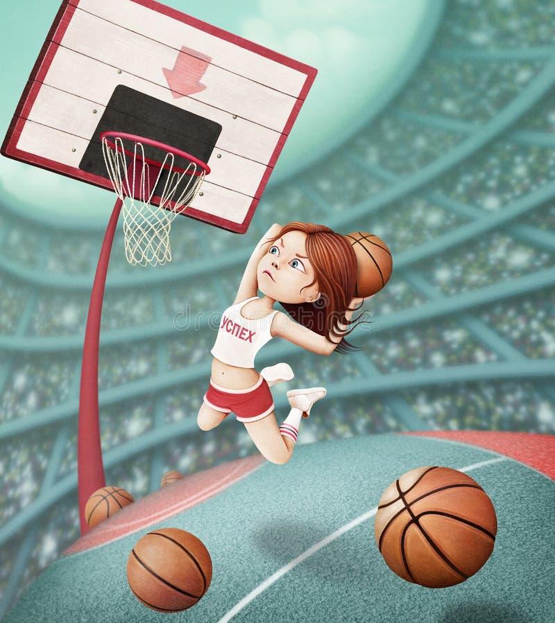 Cesta do basquetebol ilustração stock
