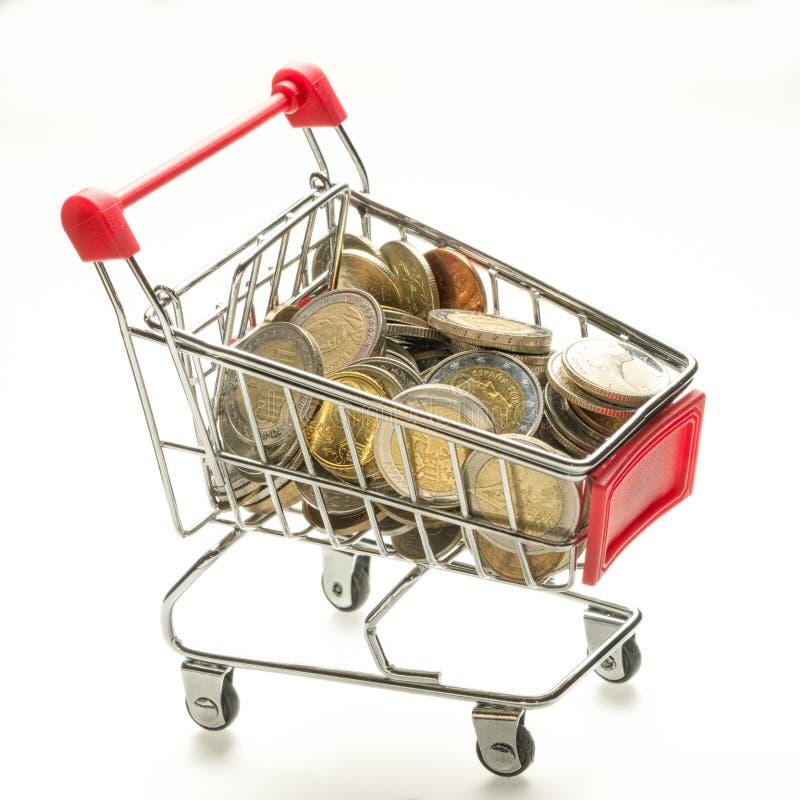 Cesta do consumidor fotografia de stock royalty free