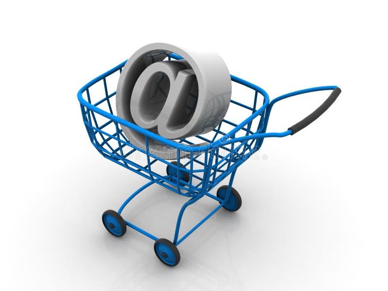 Cesta do consumidor. Internet ilustração do vetor