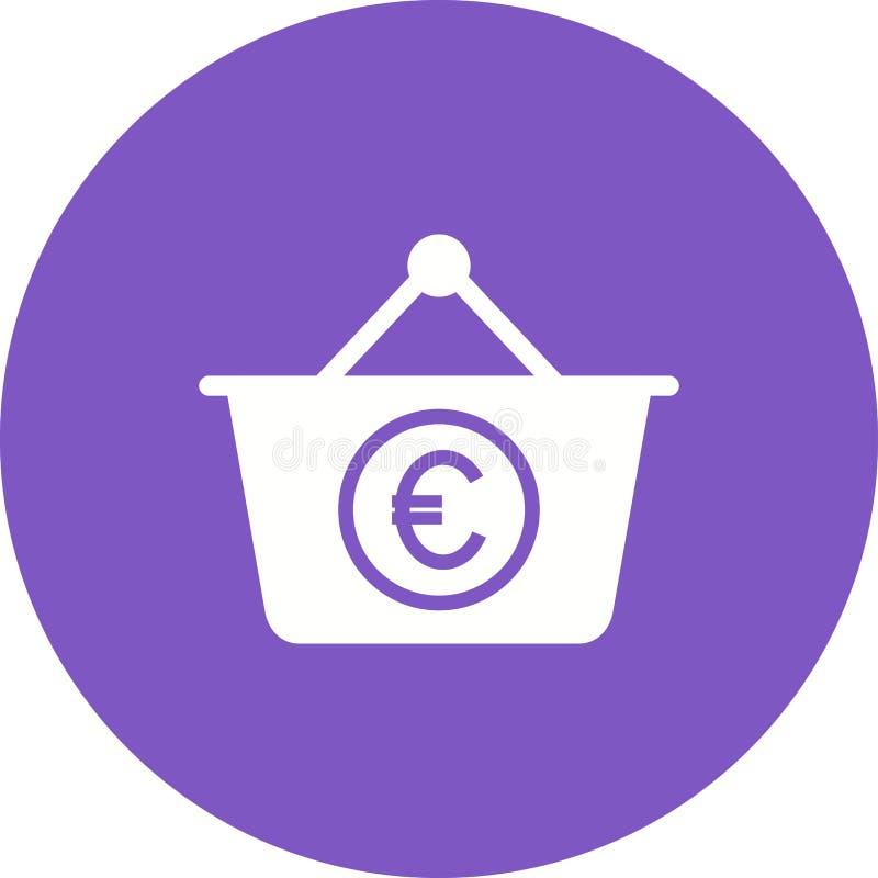 Cesta do Euro ilustração stock