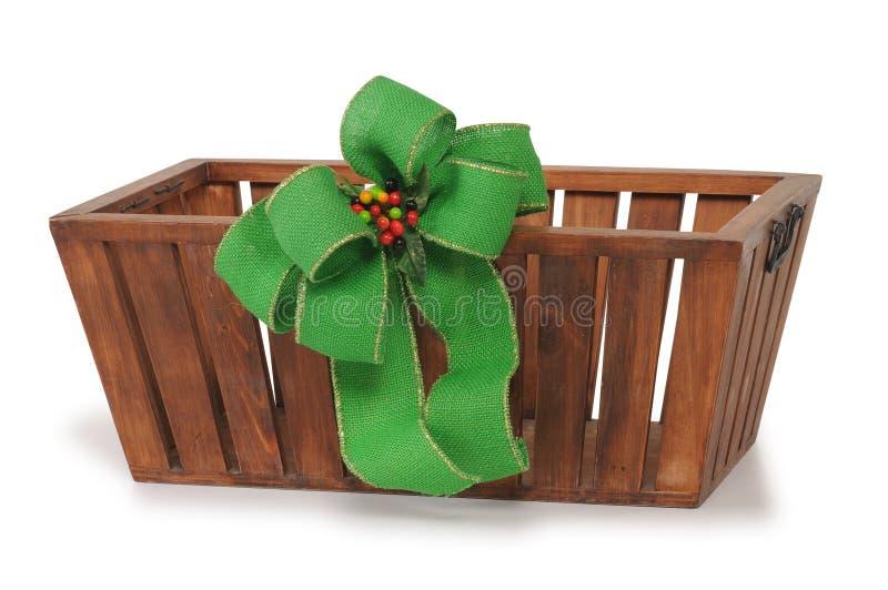 Cesta do Natal fotos de stock