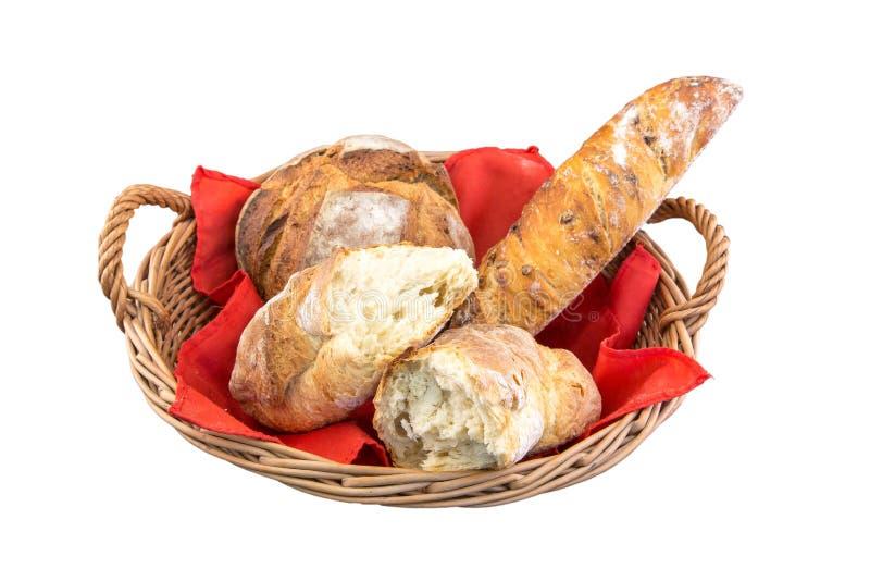 Cesta do pão foto de stock