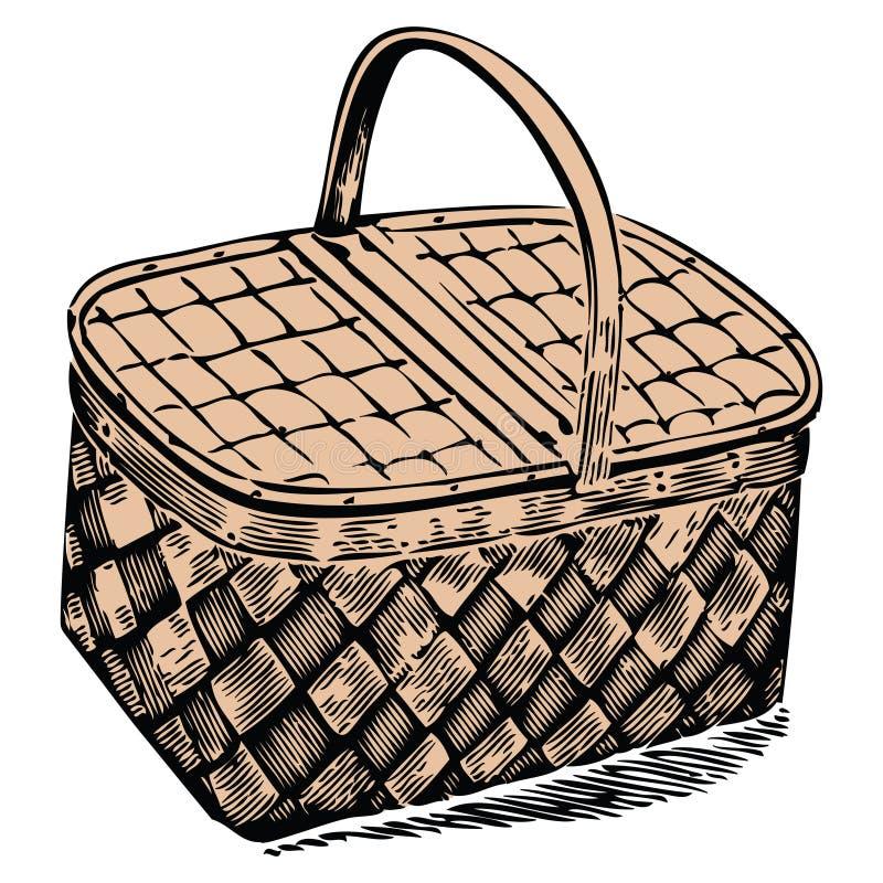 Cesta do piquenique ilustração royalty free